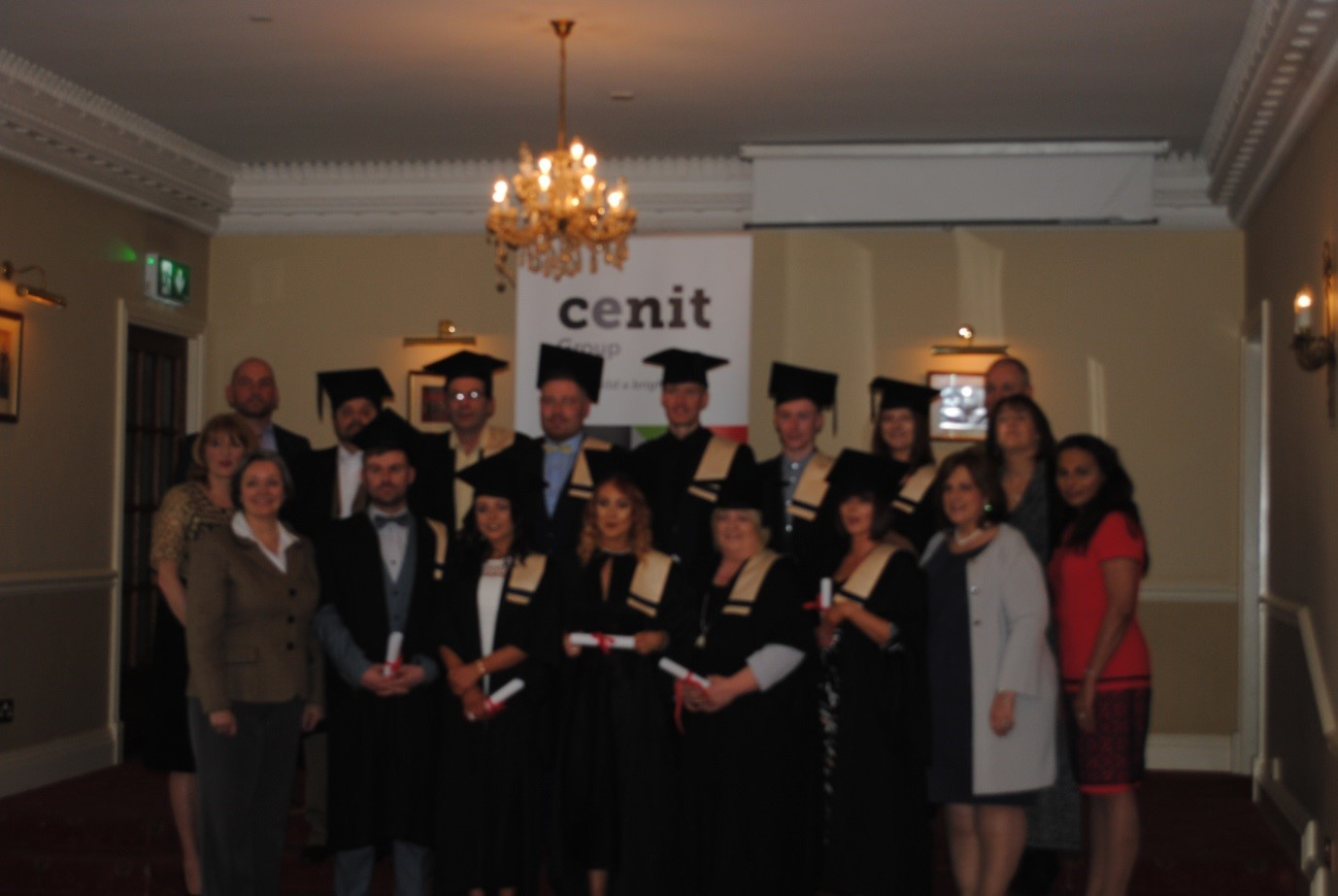 Healthcare Course Graduates with LWETB Athlone Training Centre and Cenit College Staff