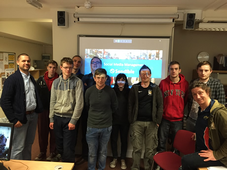 Students after a webinar with Sendible UK