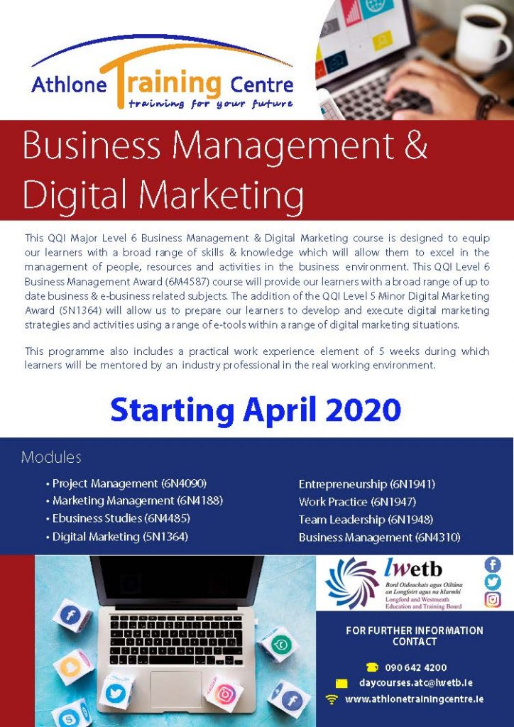 Business Management & Digital Marketing flyer